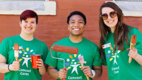 City Year Boston Reflects on Comcast Cares Day