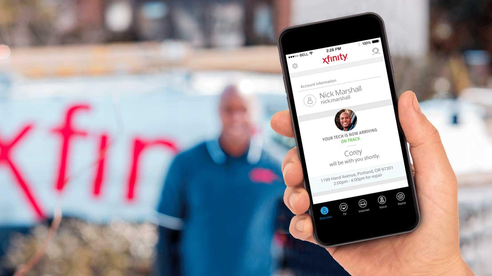Tech ETA on mobile device