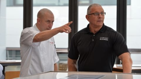"""Food Network"" Celebrity Chef and Restauranteur Robert Irvine Visits Seaport Restaurants"