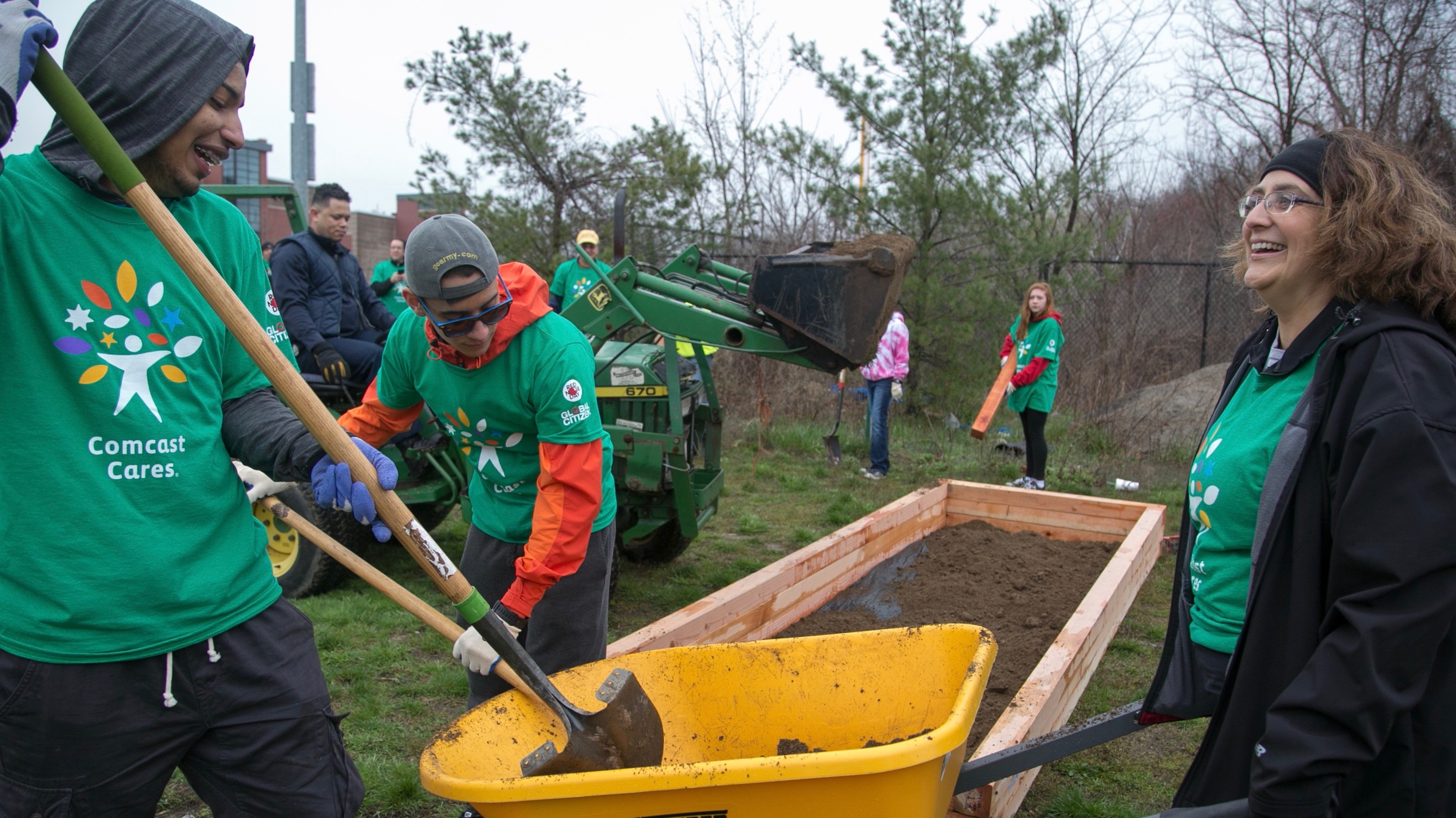 Comcast Cares Day Yardwork